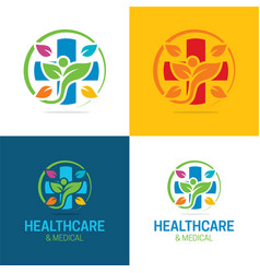 Healthcare and medical logo and icon vector