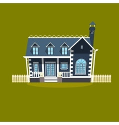 House building cartoon vector