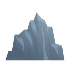Iceberg mountain isolated on white background vector