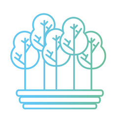 line naturals trees with branches ecology care vector image