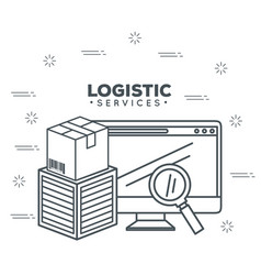 Logistic services with computer vector