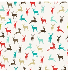 Merry Christmas reindeer seamless pattern vector