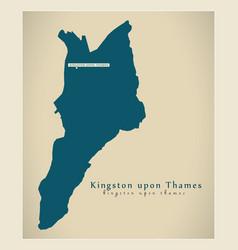 Modern map - kingston upon thames borough greater vector