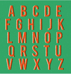 Multiplied retro alphabet vector image
