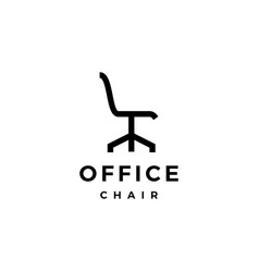 Office chair logo icon vector