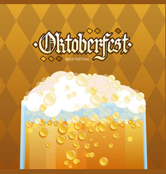 Oktoberfest beer glass festival holiday decoration vector