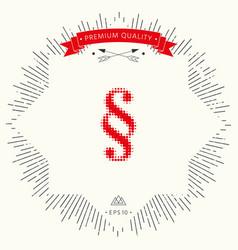 Paragraph halftone logo vector
