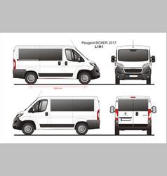 Peugeot boxer passenger van l1h1 vector
