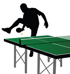 Ping pong player silhouette 1 vector