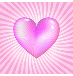 Pink glassy heart vector