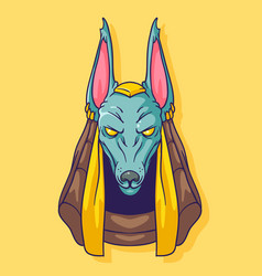 portrait of the egyptian god anubis vector image
