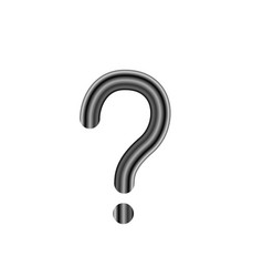 question mark isolated vector image