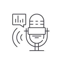radio show line icon concept radio show vector image