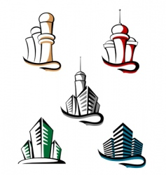 real estate symbols vector image vector image