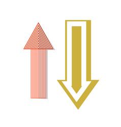 Retro arrow pictograms in flat style vector