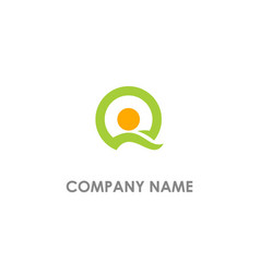Round dot q initial logo vector
