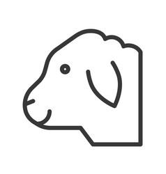 Sheep head farm animal line style editable vector