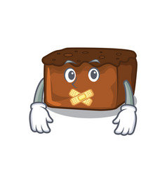 silent brownies mascot cartoon style vector image