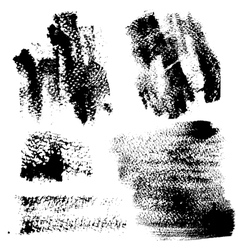 Smears and fingerprints with paint vector
