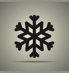 snowflake icon black and white vector image