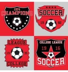 Soccer logo typography t-shirt graphics vector
