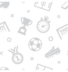 soccer seamless pattern sport background vector image