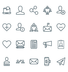 Social icons set collection of edit phone vector