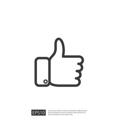 social network like icon hand thumb up symbol for vector image