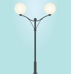 street light vector image