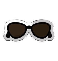 sunglasses female fashion icon vector image
