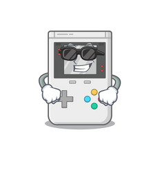 Super cool handheld game scroll character with vector