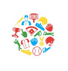 symbol of sport baseball round design template vector image