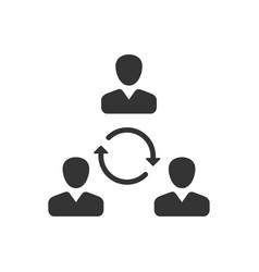 Teamwork communication icon vector