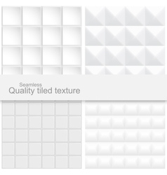 Tile white textures vector