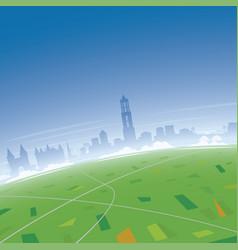 Utrecht skyline aerial view vector