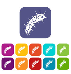 virus icons set vector image