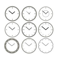 Wall clock set clocks icons for creating an vector
