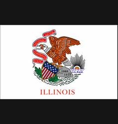 waving flag illinois 10 eps vector image