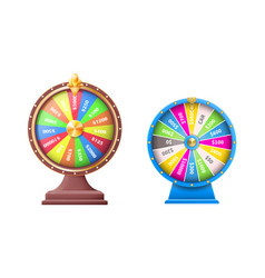 Wheel luck or fortune wheels automatic gambling vector