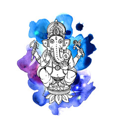 With ganesha vector