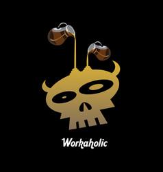 Workaholic vector