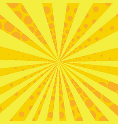 Yellow and orange retro style comic background vector
