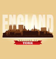 York united kingdom city skyline silhouette vector