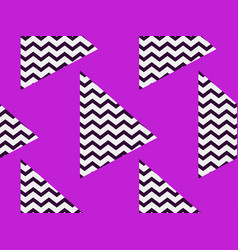 zigzag seamless pattern with black and violet vector image