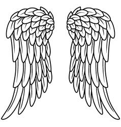 Cartoon angel wings vector