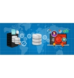 data integration database connect media files vector image vector image