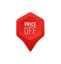 pointer for sale or discount price off tag icon vector image vector image