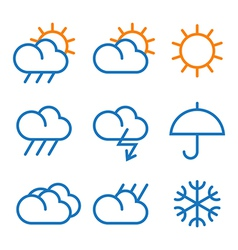 Weather signs vector image vector image