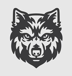 Wolf Head Logo Mascot Emblem vector image vector image