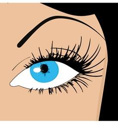 Womans eye vector image vector image